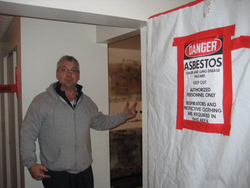 Air testing for mold and asbestos removal