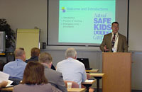 Dr. Duford is seen here teaching a safety course.